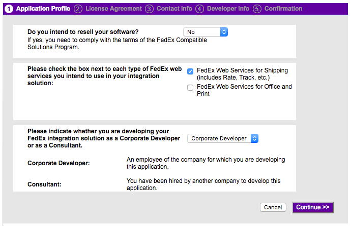 fedex-application-profile